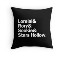 Gilmore Girls - Lorelai & Rory & Sookie & Stars Hollow | Black Throw Pillow