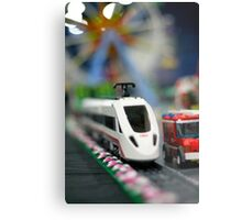 Lego Train Metal Print
