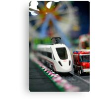 Lego Train Canvas Print