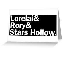Gilmore Girls - Lorelai & Rory & Stars Hollow   Black Greeting Card