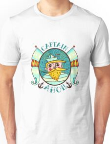 Seaman Illustration with a lighthouse in the style of an old tattoo.  Unisex T-Shirt