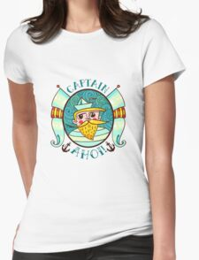 Seaman Illustration with a lighthouse in the style of an old tattoo.  Womens Fitted T-Shirt