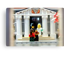 Lego Wedding  Metal Print