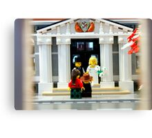 Lego Wedding  Canvas Print