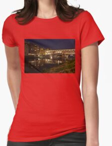 Florence, Italy Night Magic - A Glamorous Evening at Ponte Vecchio  Womens Fitted T-Shirt