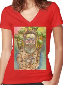 It's The Bee's Trees Women's Fitted V-Neck T-Shirt