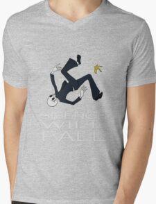 Silence Will Fall Mens V-Neck T-Shirt