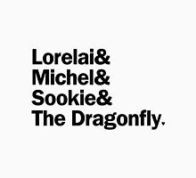 Gilmore Girls - Lorelai & Michel & Sookie & The Dragonfly | White Unisex T-Shirt