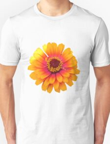 Vibrant Orange Flower Unisex T-Shirt