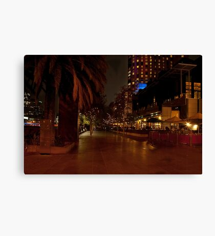 1154 Melbourne at Night Canvas Print