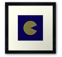 Striped PacMan Framed Print