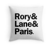 Gilmore Girls - Rory & Paris & Lane | White Throw Pillow
