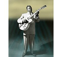 BB KING VERY YOUNG HAND COLOURED IMAGE Photographic Print