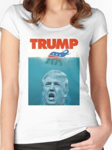 Trump Jaws Women's Fitted Scoop T-Shirt