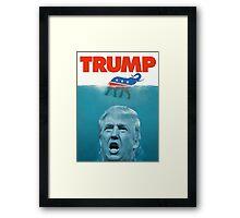 Trump Jaws Framed Print