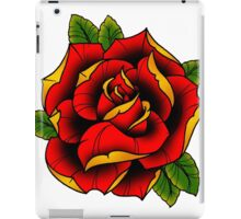 Neotraditional Rose in Red iPad Case/Skin