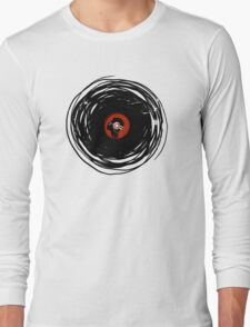 I'm spinning within with a vinyl record... GRUNGE TEXTURE Long Sleeve T-Shirt