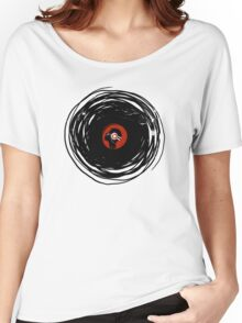 I'm spinning within with a vinyl record... GRUNGE TEXTURE Women's Relaxed Fit T-Shirt
