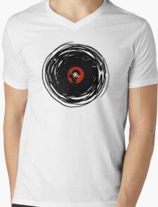 I'm spinning within with a vinyl record... GRUNGE TEXTURE Mens V-Neck T-Shirt