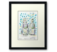 Two Statues in Mee Lun Street Framed Print