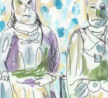 Two Statues in Mee Lun Street Sticker