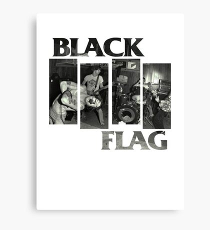 BLACK FLAG - 4 Bar Logo Live Band Montage 2 Canvas Print