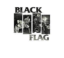 BLACK FLAG - 4 Bar Logo Live Band Montage 2 Photographic Print