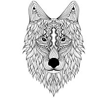 Wolf Drawing Photographic Print
