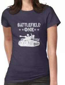 Battlefield one Tanks Womens Fitted T-Shirt