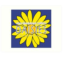 Gilmore Girls - One Thousand Yellow Daisies Art Print