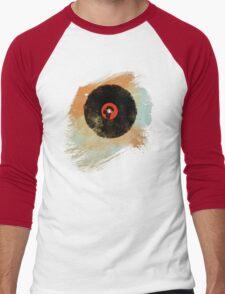 Vinyl Record Retro T-Shirt - Vinyl Records New Grunge Design Men's Baseball ¾ T-Shirt