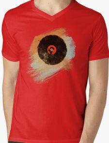 Vinyl Record Retro T-Shirt - Vinyl Records New Grunge Design Mens V-Neck T-Shirt