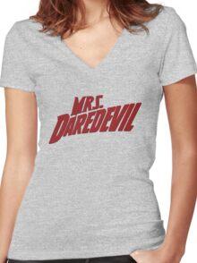Mrs. Daredevil Women's Fitted V-Neck T-Shirt