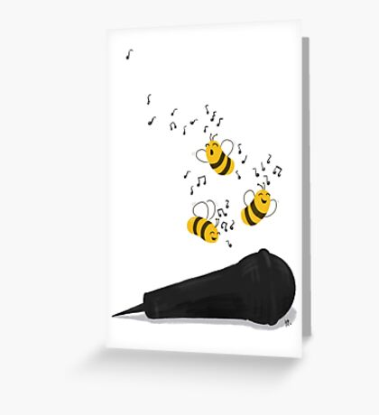 Busy Singing Greeting Card