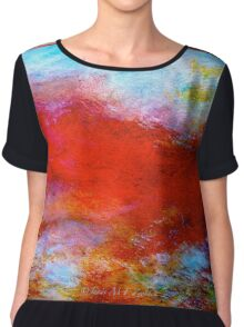 "Abstract...The ""Typhon"" Chiffon Top"