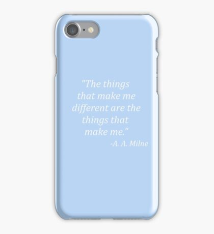 The things that make me different iPhone Case/Skin