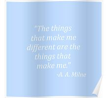 The things that make me different Poster