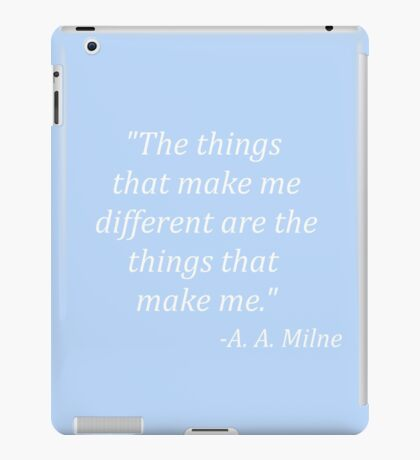 The things that make me different iPad Case/Skin