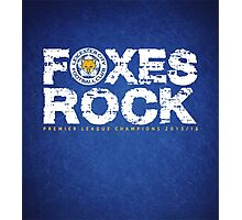 Leicester champions foxes Photographic Print