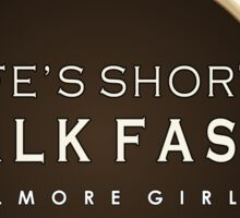 Gilmore Girls - Life's Short, Talk Fast Sticker