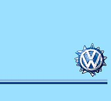 VW Classic Swirl and lines  by melodyart