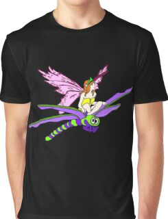 Dragonfly Riding Faerie Graphic T-Shirt