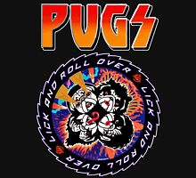 Kiss Pugs Lick and Roll Over Unisex T-Shirt
