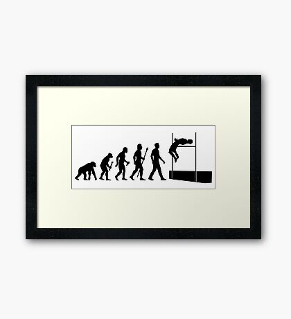 Funny High Jump Evolution  Framed Print