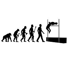 Funny High Jump Evolution  Photographic Print