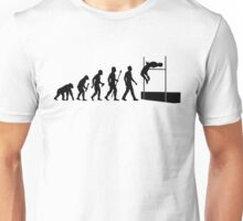 Funny High Jump Evolution  Unisex T-Shirt
