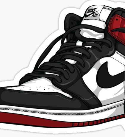"Air Jordan 1 ""BLACK TOE"" Sticker"