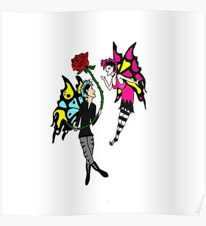 Goth Faeries in Love Poster