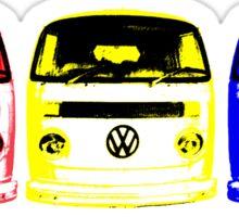 VW Kombi - Red Yellow Blue Sticker