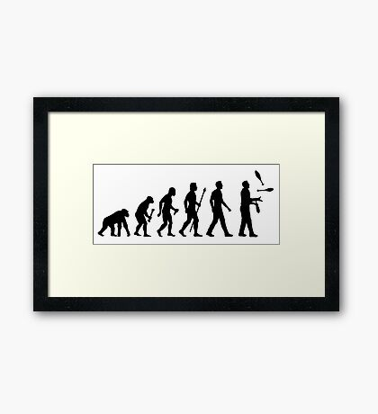 Funny Juggling Evolution Shirt Framed Print